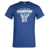 Royal T Shirt-Regular Season Champions 2017 Mens Basketball Net Design