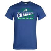 Royal T Shirt-Regular Season Champions 2017 Mens Basketball Half Ball Design