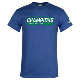 Royal T Shirt-ASUN Champions 2017 Mens Basketball