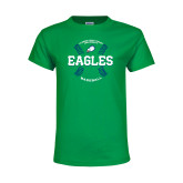 Youth Kelly Green T Shirt-Baseball Seams