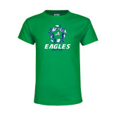Youth Kelly Green T Shirt-Soccer Ball Design