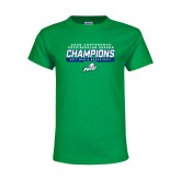 Youth Kelly Green T Shirt-Regular Season Champions 2017 Mens Basketball Bar Design