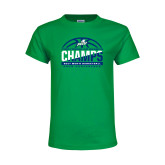 Youth Kelly Green T Shirt-Regular Season Champions 2017 Mens Basketball Half Ball Design