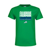 Youth Kelly Green T Shirt-Regular Season Champions 2017 Mens Basketball Champions Repeating