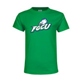 Youth Kelly Green T Shirt-Primary Athletic Mark