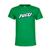 Youth Kelly Green T Shirt-FGCU
