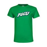 Youth Kelly Green T Shirt-FGCU