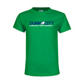 Youth Kelly Green T Shirt-Dunk City Official Logo