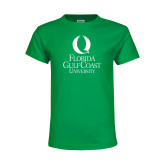 Youth Kelly Green T Shirt-University Mark Stacked