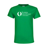 Youth Kelly Green T Shirt-University Mark Flat