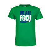 Youth Kelly Green T Shirt-We Are FGCU
