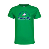 Youth Kelly Green T Shirt-Dunk City Script