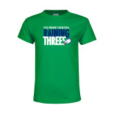 Youth Kelly Green T Shirt-Raining Threes