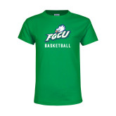Youth Kelly Green T Shirt-Basketball