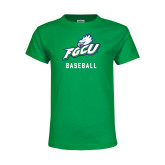 Youth Kelly Green T Shirt-Baseball
