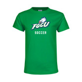 Youth Kelly Green T Shirt-Soccer