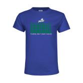 Youth Royal T Shirt-Basketball Triple Stacked