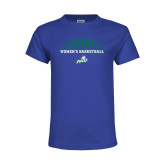 Youth Royal T Shirt-Basketball Half Ball