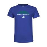 Youth Royal T Shirt-Basketball Half Ball