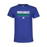 Youth Royal T Shirt-Basketball Stacked