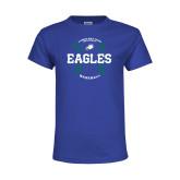 Youth Royal T Shirt-Baseball Seams