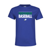 Youth Royal T Shirt-Baseball Stacked