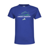Youth Royal T Shirt-Cross Country Shoe