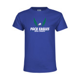 Youth Royal T Shirt-Cross Country Wings
