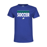 Youth Royal T Shirt-Stacked Soccer