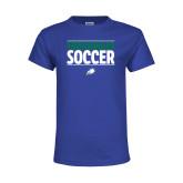 Youth Royal T Shirt-Stacked Soccer