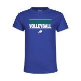 Youth Royal T Shirt-Volleyball Stacked