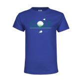Youth Royal T Shirt-Golf Flag and Ball