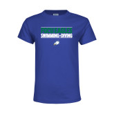Youth Royal T Shirt-Swimming and Diving Stacked