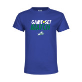 Youth Royal T Shirt-Game Set Match Tennis