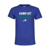 Youth Royal T Shirt-Game Set Match Tennis
