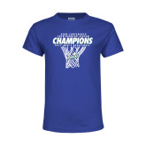 Youth Royal T Shirt-Regular Season Champions 2017 Mens Basketball Net Design