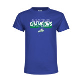 Youth Royal T Shirt-Regular Season Champions 2017 Mens Basketball Bar Design