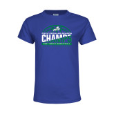 Youth Royal T Shirt-Regular Season Champions 2017 Mens Basketball Half Ball Design