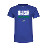 Youth Royal T Shirt-Regular Season Champions 2017 Mens Basketball Champions Repeating