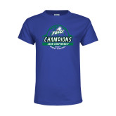 Youth Royal T Shirt-Asun Conference 2017 Womens Basketball Champions
