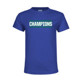 Youth Royal T Shirt-ASUN Champions 2017 Mens Basketball