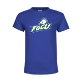 Youth Royal T Shirt-Primary Athletic Mark