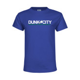 Youth Royal T Shirt-Dunk City Official Logo