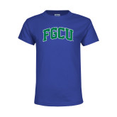 Youth Royal T Shirt-Arched FGCU