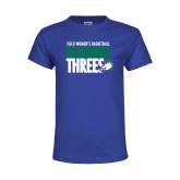 Youth Royal T Shirt-Raining Threes