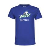 Youth Royal T Shirt-Softball