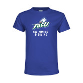 Youth Royal T Shirt-Swimming and Diving