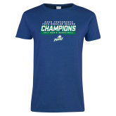 Ladies Royal T Shirt-Regular Season Champions 2017 Mens Basketball Bar Design