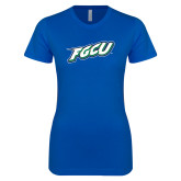 Next Level Ladies SoftStyle Junior Fitted Royal Tee-FGCU