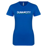 Next Level Ladies SoftStyle Junior Fitted Royal Tee-Dunk City Official Logo
